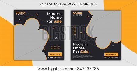 Real Estate Social Media Post Template, Social Media Banners, Elegant of Real Estate or Home Sale Social Media Promotion, Square flyer design Template.