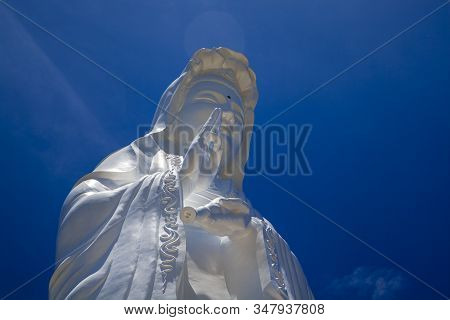 The Lady Buddha Statue The Bodhisattva Of Mercy At The Linh Ung Pagoda In Da Nang Vietnam.