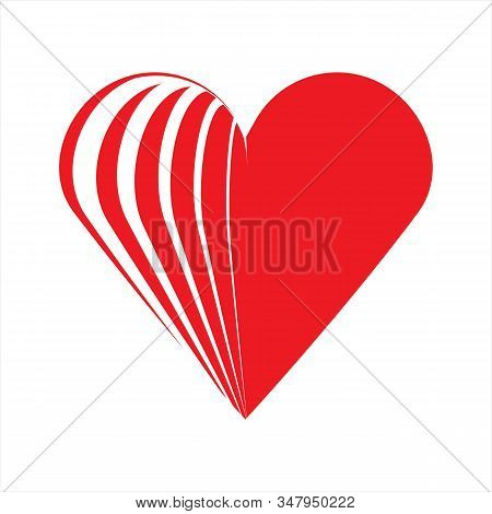 Heart Icon, Simple Icon. Vector Icon With A White Background. Flat Icon. Gamar Hati Icon. Heart Icon