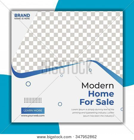 Real Estate Social Media Post Template, Social Media Banners, Elegant of Real Estate or Home Sale Social Media Promotion, Square flyer design Template.