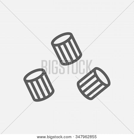 Ave Marie Pasta Shape Icon Line Symbol. Isolated Vector Illustration Of Icon Sign Concept For Your W