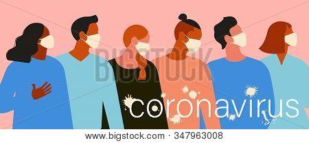 Wuhan Novel Coronavirus 2019 Ncov, Women And Men With Medical Face Mask. Concept Of Coronavirus Quar