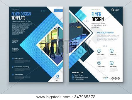 Flyer Design. Modern Flyer Background Design. Corporate Template For Business Annual Report, Catalog