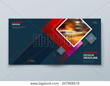 Dark Brochure Cover Background Design. Corporate Template Layout For Business Annual Report, Catalog
