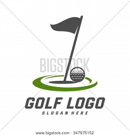 Golf Logo Design Vector Template, Vector Label Of Golf, Logo Of Golf Championship, Illustration, Cre