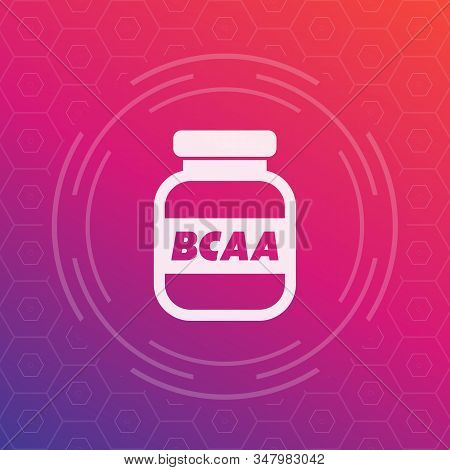 Bcaa, Amino, Sport Nutrition Vector Icon, Eps 10 File, Easy To Edit