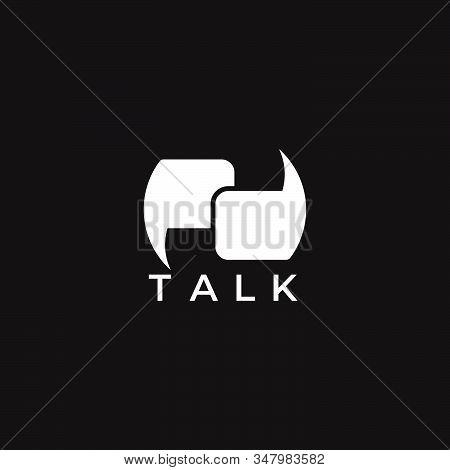 Letter Pd Linked Geometric Bubble Talk Symbol Logo Vector