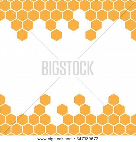 Honeycomb Background. Honeycomb Pattern. Hexagon Abstract Background Vector