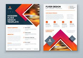 Flyer Design. Modern Flyer Background Design. Corporate Template Layout Flyer Mockup. Concept With S