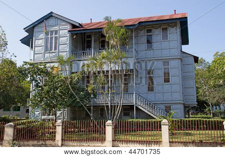 Famous Iron House build in the 19th century in Maputo, Mozambique