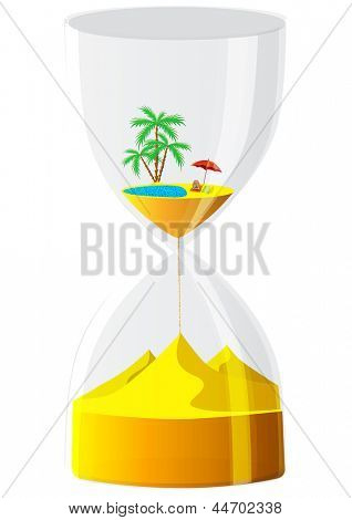 Hourglass. The inevitable time.