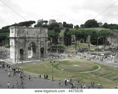 The Arc Near The Coliseum