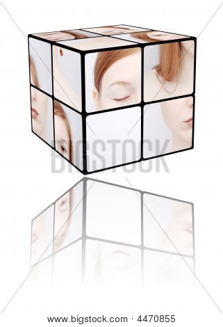 Portrait Of The Girl In A  Cube