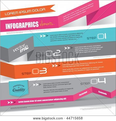 Templates design for infographic, brochures or website