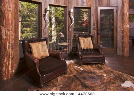 Rustic Reading Room In Rural Setting