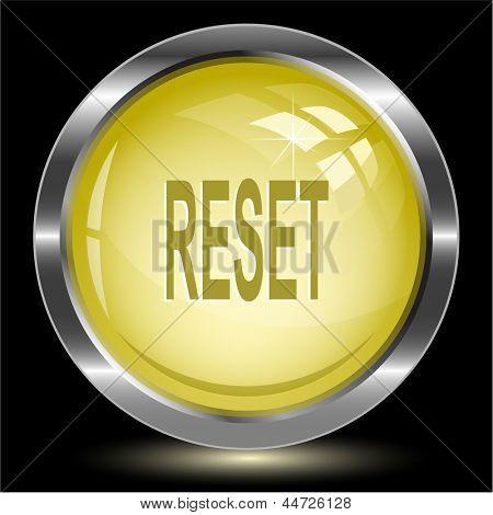 Reset. Internet button. Raster illustration.