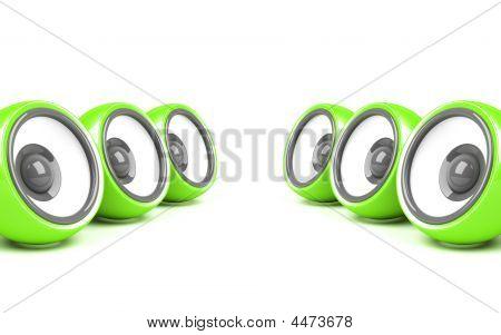Green Stylish Audio System
