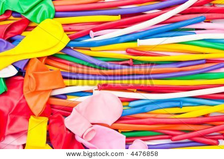 Balloons with bright colors taken under pure daylight. poster