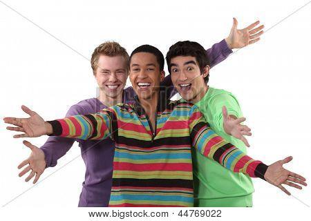 Ecstatic young men