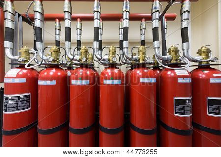 Powerful industrial fire extinguishing system.
