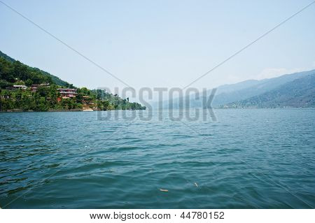 The lake Fewa, Pokhara, Nepal