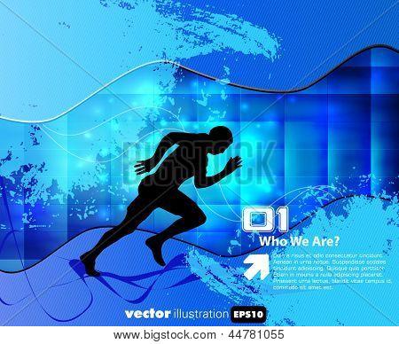 Sport illustration. Vector background