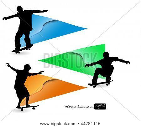 Skateboard. Sport vector