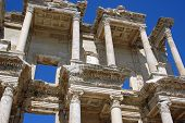 Celsus Library ephesus Turkey restored in recent years by a team of German archaeologists. poster