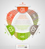 Abstract infographics design with numbered elements - vector illustration poster