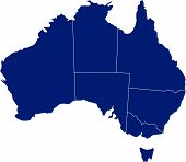 There is a map of Australia country poster