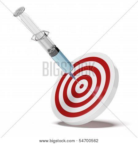 Syringe and target