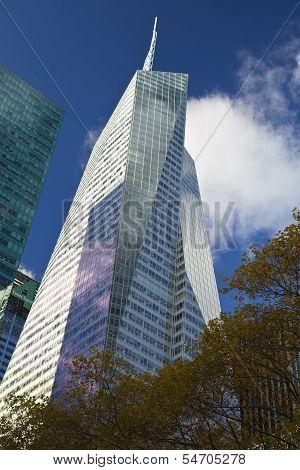 New York City, November 19, 2013: Bank Of America Tower In Midtown Manhattan, New York City