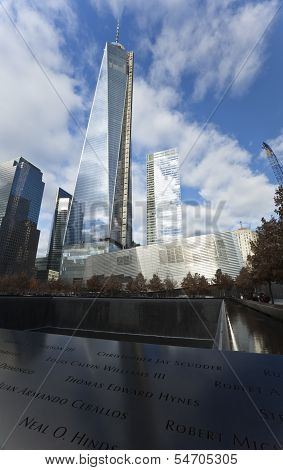 New York City, November 19, 2013: One World Trade Center Tower In Final Phase Of Construction