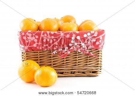 Mandarins Or Tangerines In The Basket