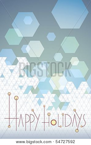 Geometric pattern made as a seasonal greetings background. Editable vector illustration in EPS 10.0.
