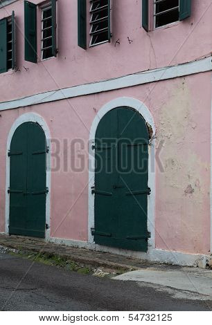 Pink Building in St. Thomas