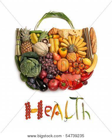 Bolso de la comida sana