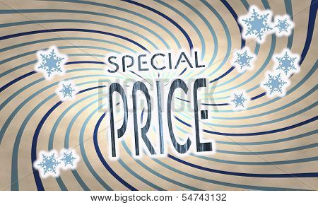Vintage Wooden Special Price Label