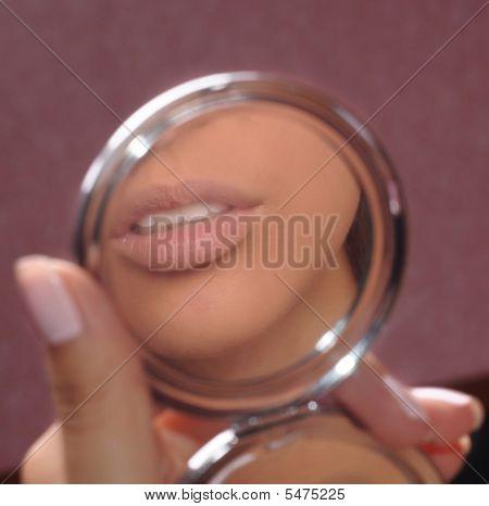 Lips In A Mirror