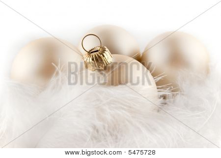 Christmas Ornaments In Billowy Feathers, High Key Effect