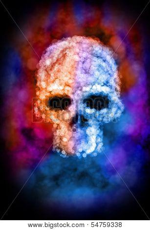 Bokeh Skull