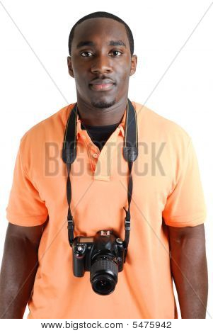 Student Photographer With A Camera