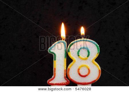 Eighteenth  Birthday Candles