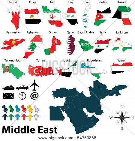 Maps Of Middle East