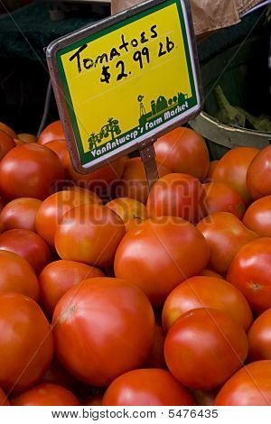 Red Tomatoes From Farmers Market