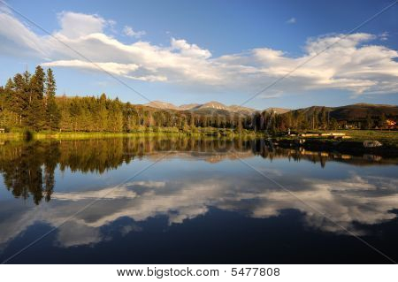 Beautiful Lake And Forest In The Mountains