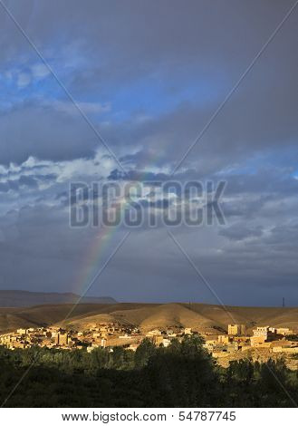 Village In Rose Valley, Morocco
