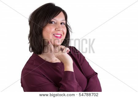Middle Aged Businesswoman Looking At Your Eyes