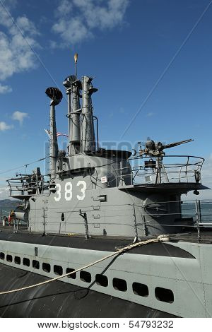 USS Pampanito, a Balao-class diesel-electric submarine earned six battle stars for WW II service