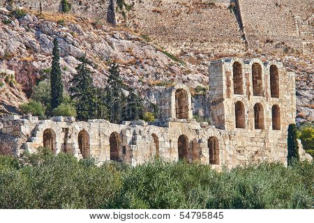 arches of Herodeion ancient theater Acropolis of Athens